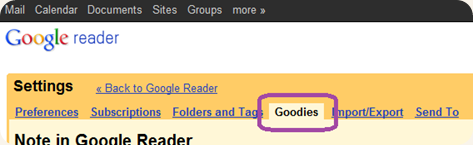 google reader goodies