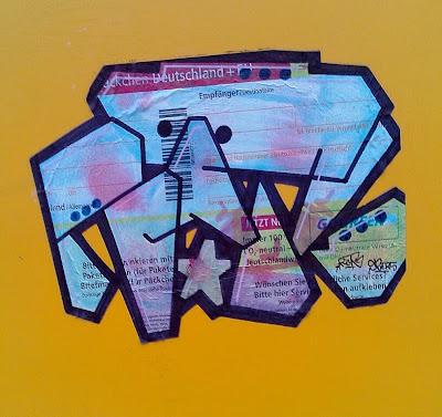 Paketschein Street Art