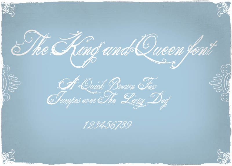 the king and queen font
