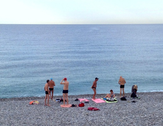 Swimming in Nice France