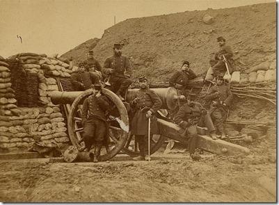 soldats pendant le siège de Paris