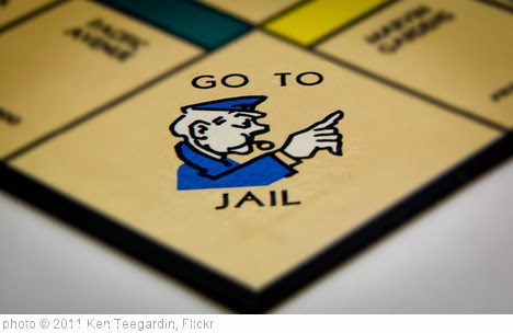 'Go To Jail' photo (c) 2011, Ken Teegardin - license: http://creativecommons.org/licenses/by-sa/2.0/