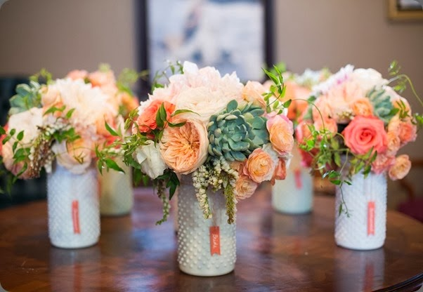 presentation bouquets  Azuree Wiitala Photography and cori cook Peach Juliet Garden Rose LC