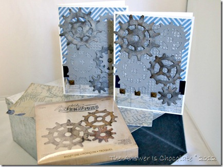 Tim Holtz Gear Father's Day Cards