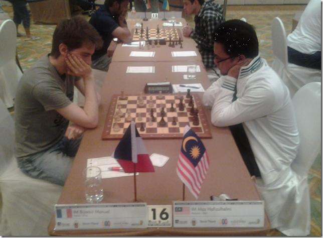IM Bijaoui Manuel, France vs IM Mas Hafizulhelmi, Malaysia, round 7, BCC 2013, Thailand