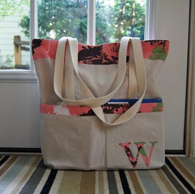 Bolsa com bolsos externos