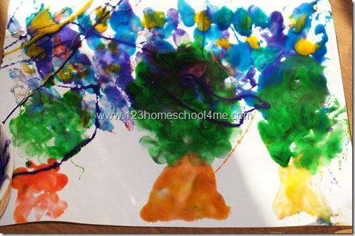 Edible Finger Paint Art