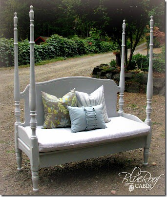 Four poster headboard bench DIY