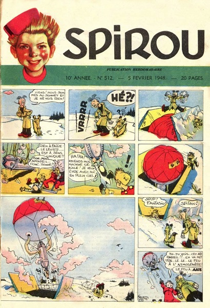 Spirou couverture N512 1948