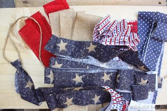 scrap fabric bunting diy