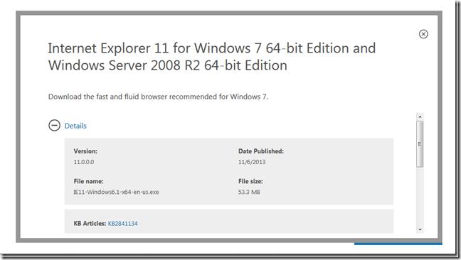 internet explorer 11 for windows 7 sp1 64 bit download