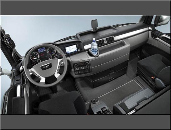 camión MAN TGS  interiores