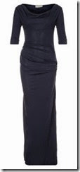 Bombshell Navy Jersey Ruched Maxi Dress