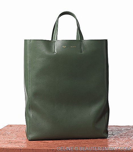 Celine Cabas  Army Green Bag