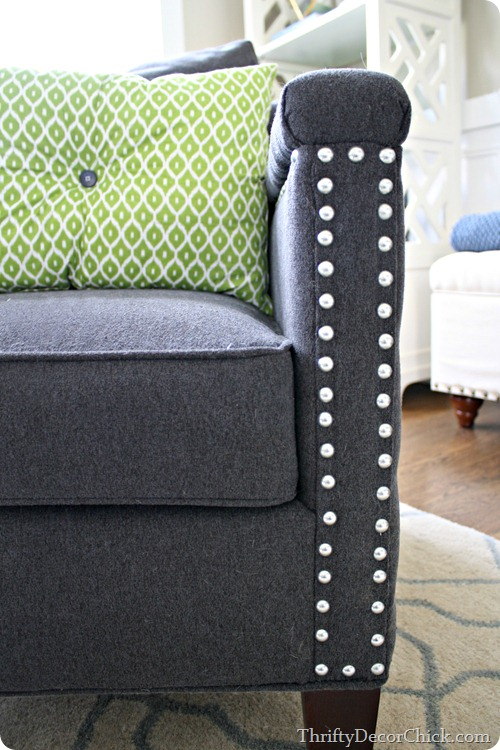 nail head accent on chair