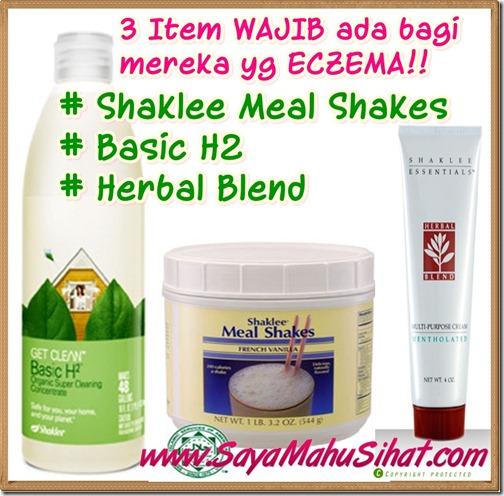 3 Item Wajib ada untuk Eczema di Shaklee_Herbal Blend_Shaklee Meal Shakes_Basic H2