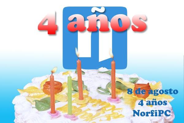 Cumpleaños 4 de NorfiPC