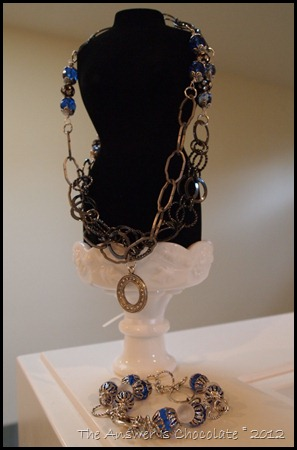 TAIC Blue Crystal Bracelet and Necklace