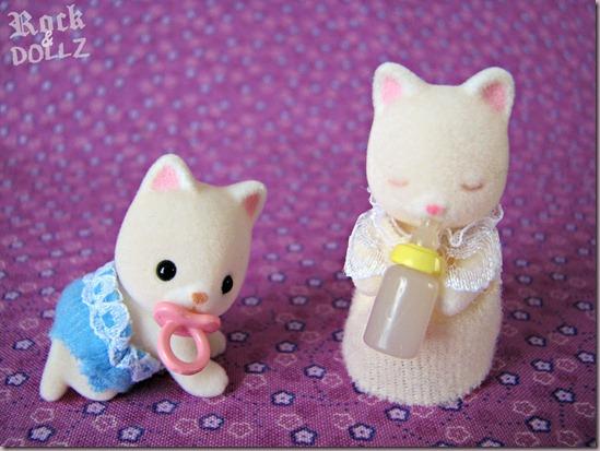 Sylvanian Silk Cat Babies