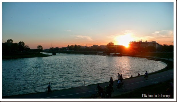 Krakow Sunset River