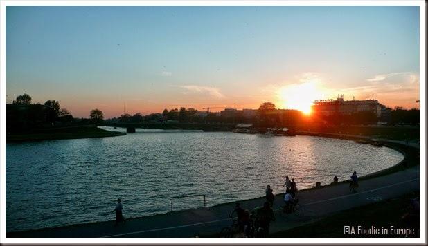 Krakow Sunset River