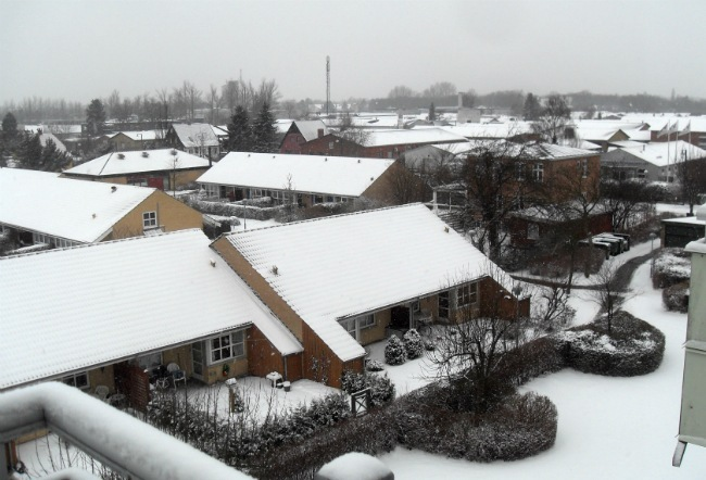 Masser af sne i marts