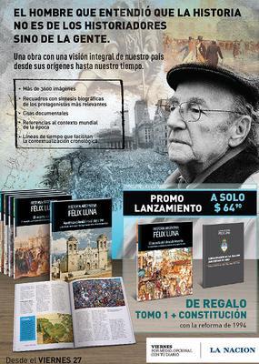 historia argentina por felix luna lanzamiento con diario