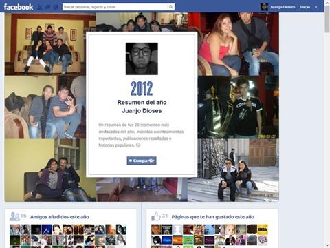 Resumen del año en Facebook
