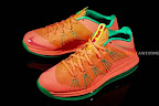 nike lebron 10 low gr watermelon 2 01 Release Reminder: Nike LeBron X Bright Mango aka Watermelon