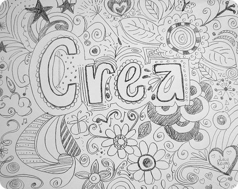 Crea doodle arte dibujo Lucy Reyna Reynalandia