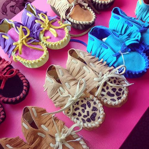 chaussons daims enfants