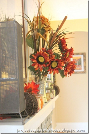 Fall Thanksgiving Mantel