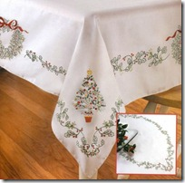 manteles punto de cruz navidad (1)
