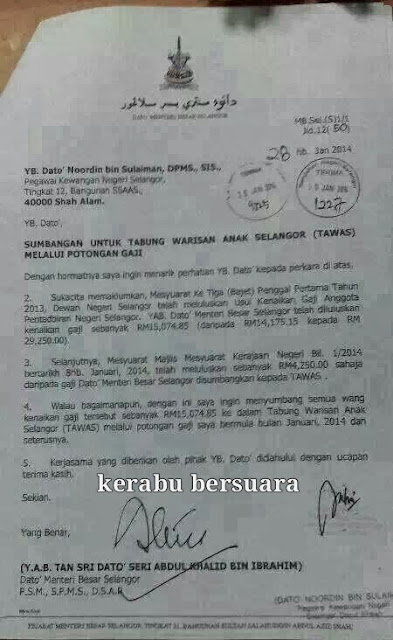 YAB Khalid Potong Gaji?