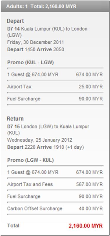London-Kuala Lumpur