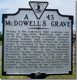 McDowell's Grave Marker A-43 in Rockbridge Co., VA