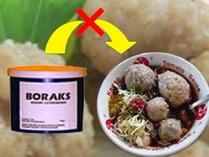 Uji kandungan boraks dalam makanan