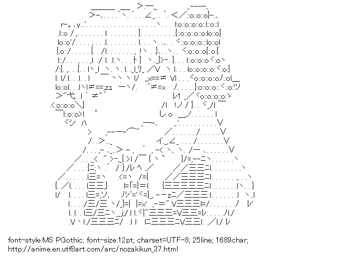 Monthly Girls Nozaki-kun,Sakura Chiyo,Faff