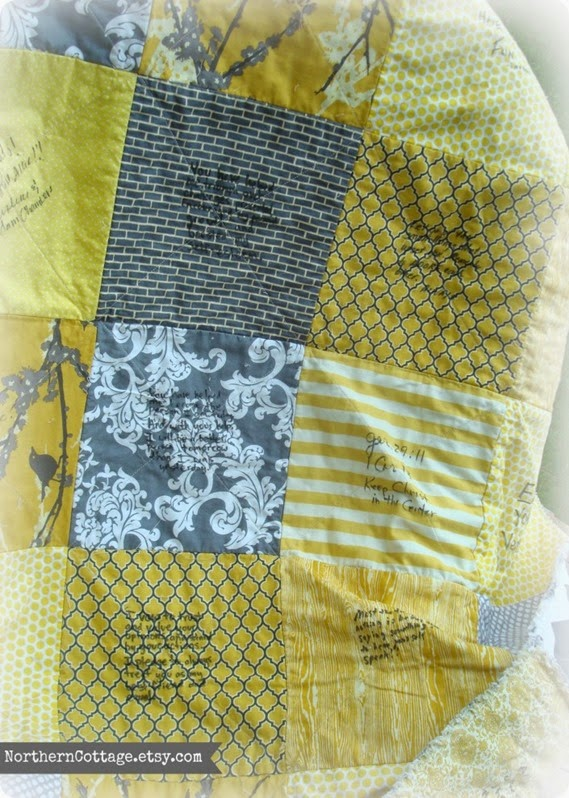 Ruffle Rag Quilt Backing {NorthernCottage}