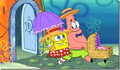 Spongebob and Patrick - Baby and Parents