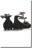Chloé Embellished Suede T-bar Ballerina Flats 3