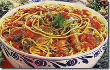 Spaghetti con sugo di mare