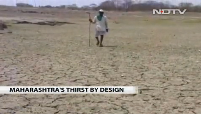 Screenshot from 'Maharashtra's thirst by design' feature by NDTV, 14 May 2013. Photo: NDTV