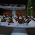 Gourmet Chocolate-dipped Strawberries&#xA;at VIP Reception