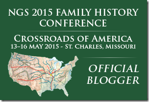The Ancestry Insider is an official blogger for the #NGS2015GEN conference.