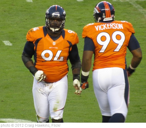 'Ty Warren and Kevin Vickerson, Broncos vs Steelers 2012' photo (c) 2012, Craig Hawkins - license: http://creativecommons.org/licenses/by-nd/2.0/