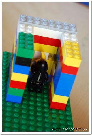 Lego seige tower ~ Our Aussie Homeschool