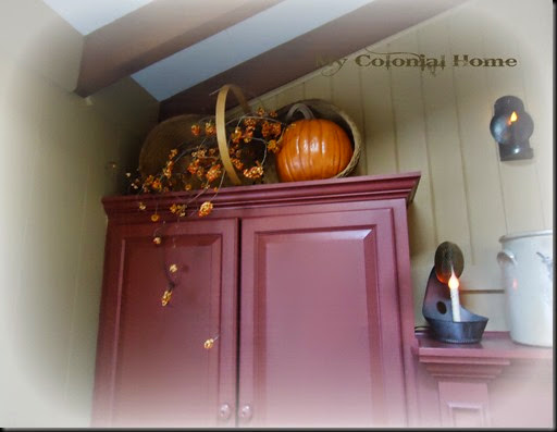 Pumpkin on cupboard
