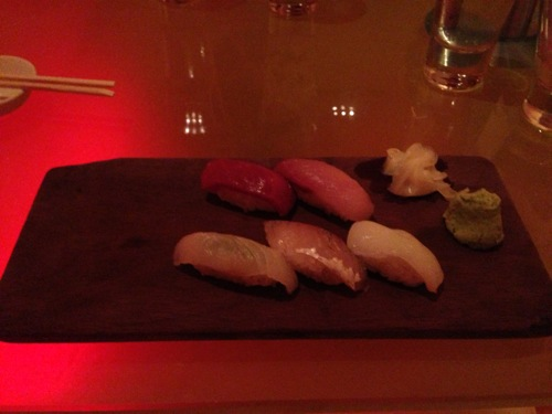 7 Sushi tuna yellowtail fluke flying fish squid