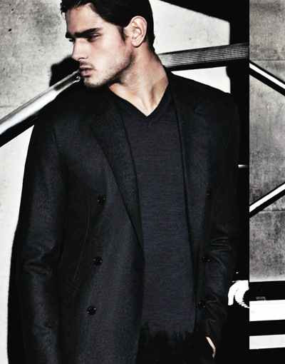 Marlon Teixeira by David McKnight for Emporio Armani F/W 2011 lookbook